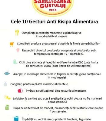 10 Gesturi Anti Risipa Alimentara