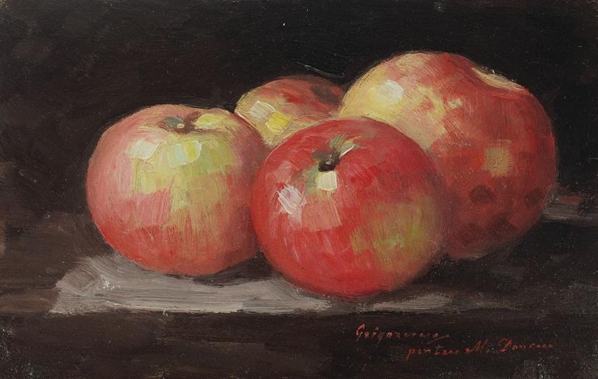 natura-statica-cu-mere-rosii-nicolae-grigorescu
