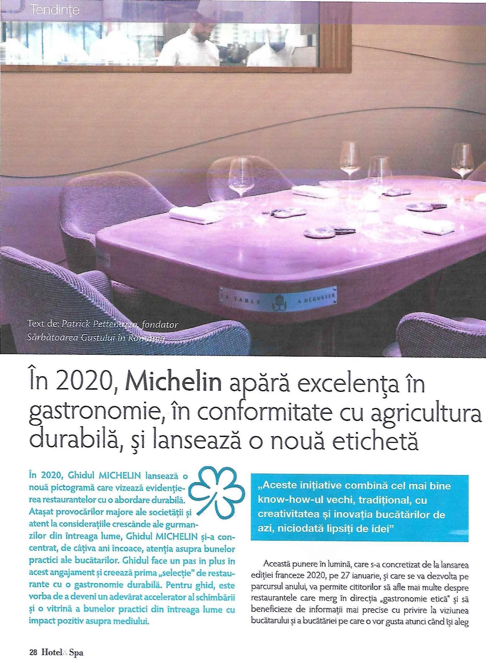 Spa magazine février 2020. gastronomie durable0001