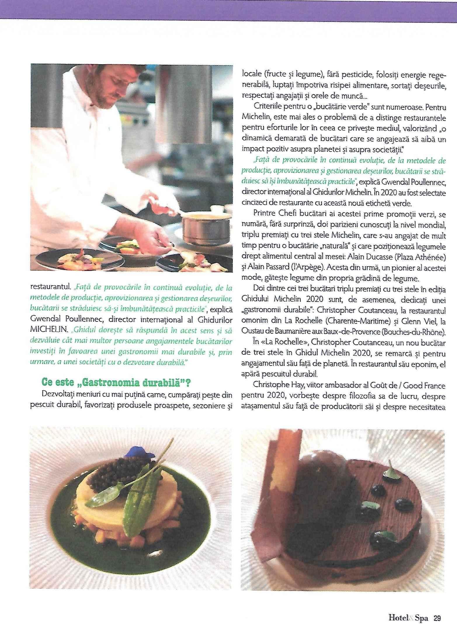 Spa magazine février 2020. gastronomie durable0002