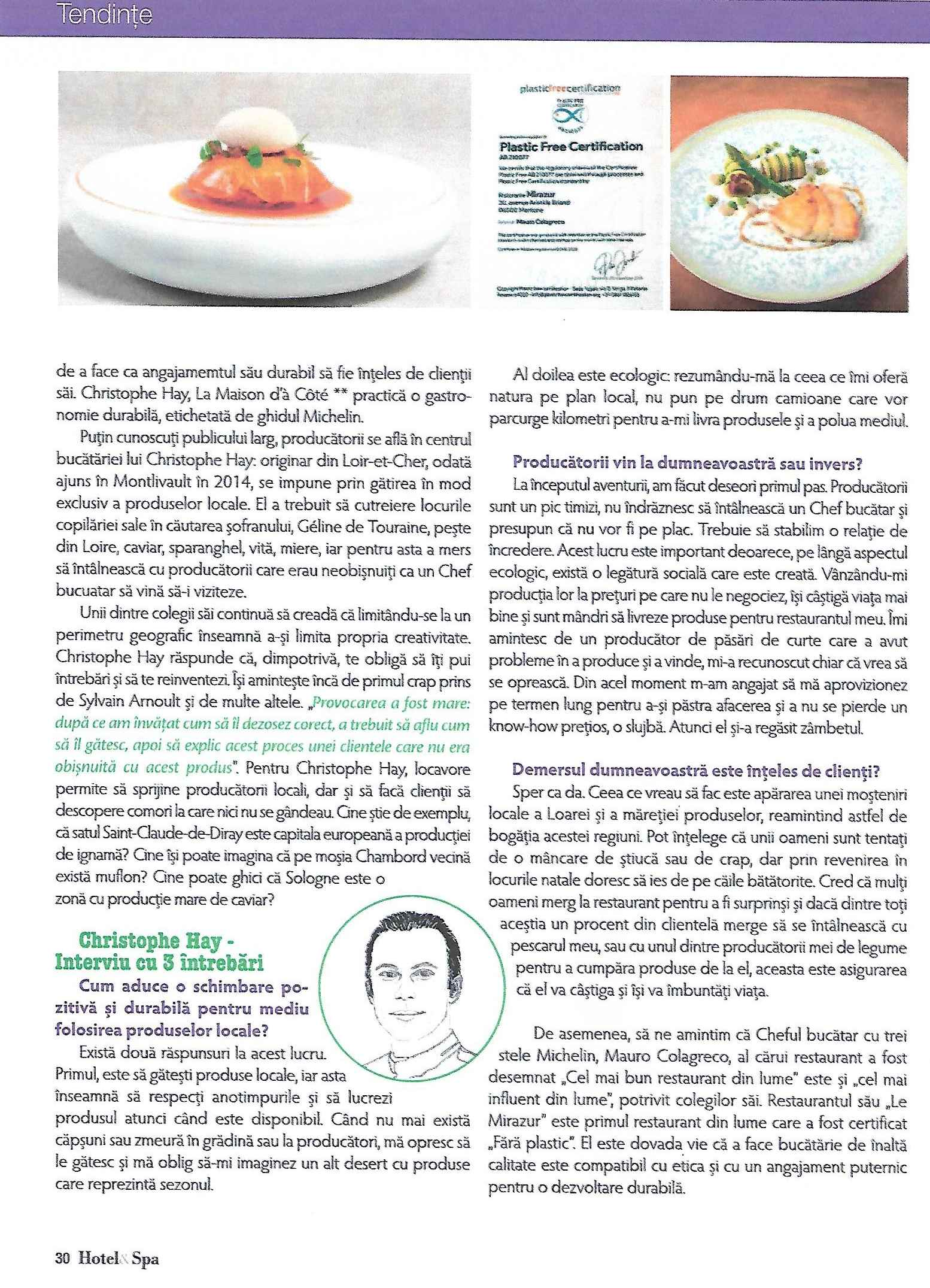 Spa magazine février 2020. gastronomie durable0003